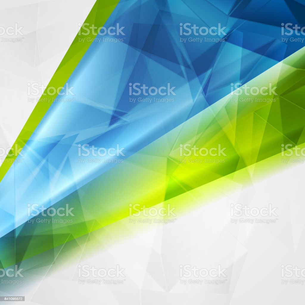 Abstract technical bright polygonal background vector art illustration