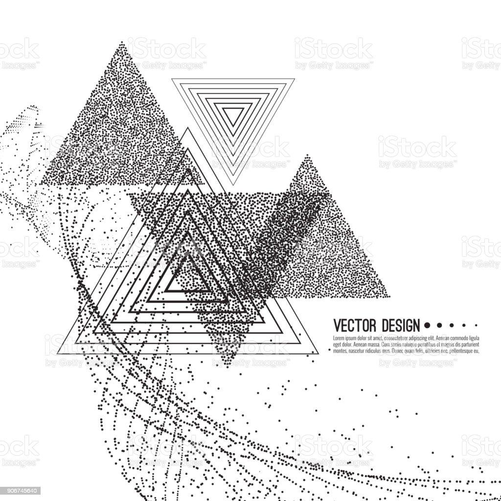 Abstract techno background vector art illustration