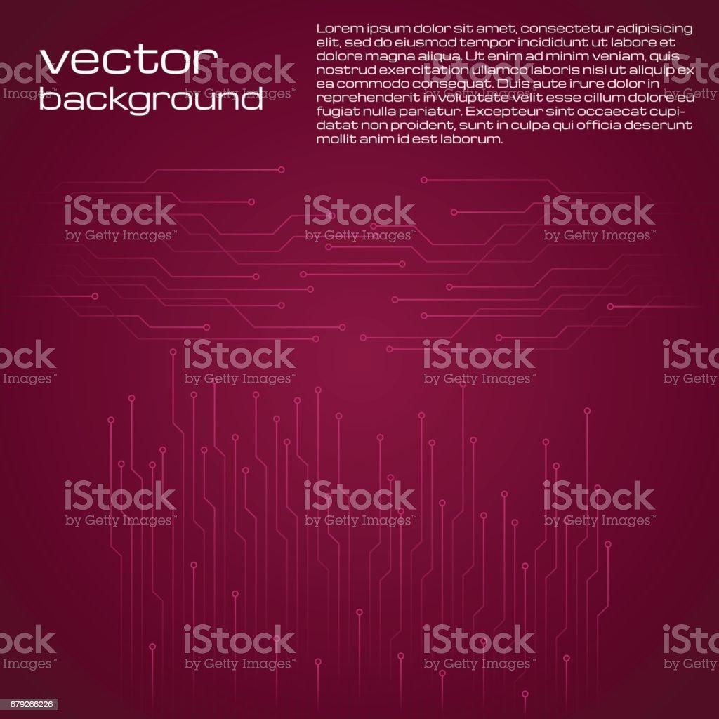 Abstract technological red background with elements of the microchip. abstract technological red background with elements of the microchip – cliparts vectoriels et plus d'images de abstrait libre de droits