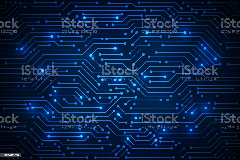 Abstract Technology Background , blue circuit board pattern royalty-free abstract technology background blue circuit board pattern stock illustration - download image now