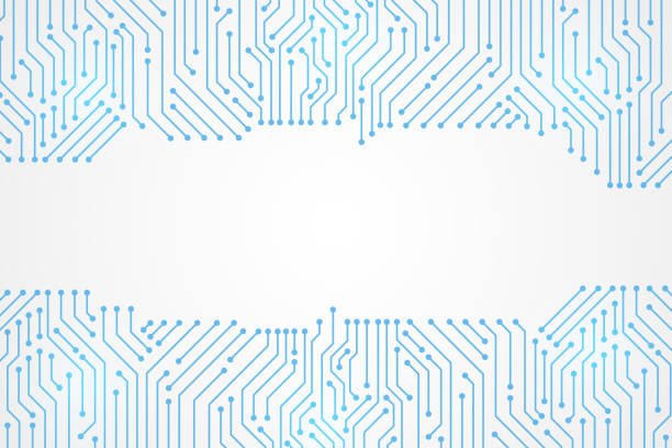 Abstract Technology Background , blue circuit board pattern Abstract Technology Background , blue circuit board pattern computer cable stock illustrations