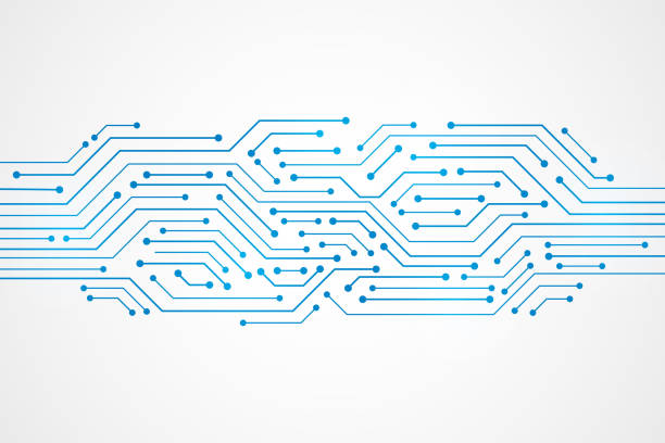 Abstract Technology Background , blue circuit board pattern Abstract Technology Background , blue circuit board pattern computer chip stock illustrations