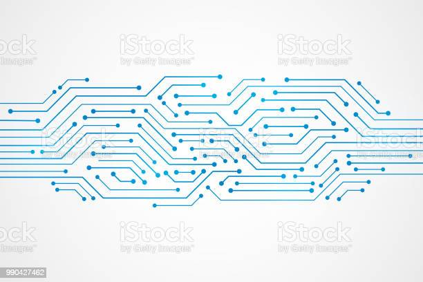Abstract Technology Background , blue circuit board pattern