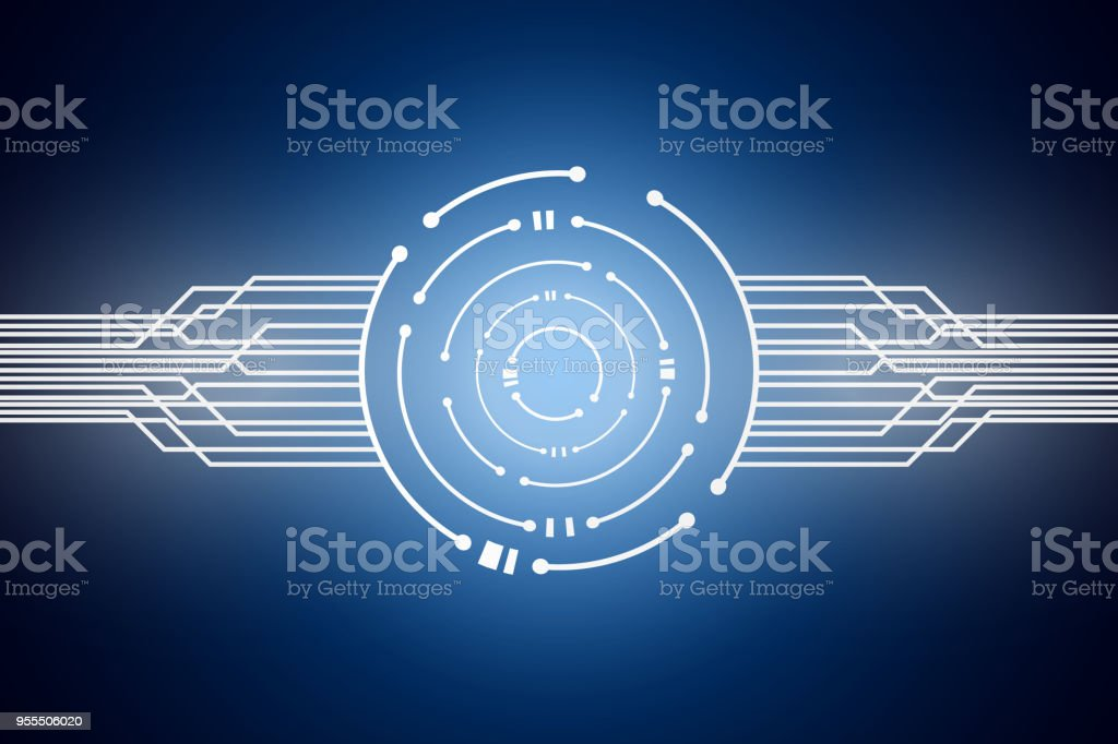 Abstract Technology Background , Circuit board , Circle digital , logo design template vector art illustration
