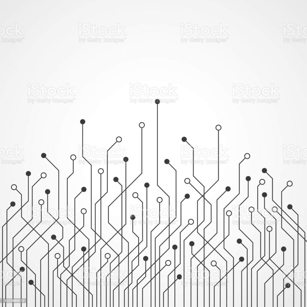 abstract technology background circuit board pattern stock illustration