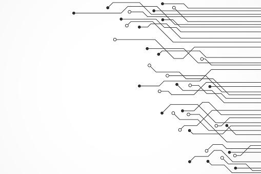抽象技術背景 電路板模式向量圖形及更多中央處理器圖片