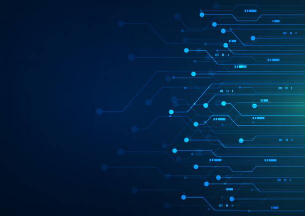 abstrakcyjne tło technologii. płytka - przemysł elektroniczny stock illustrations