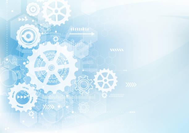 abstrakte technik hintergrund. kommunikation und engineering-konzept. vektor-illustration - maschinenteil ausrüstung und geräte stock-grafiken, -clipart, -cartoons und -symbole