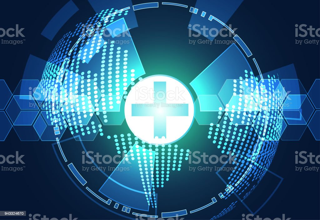 Abstract Technology Background Concept Health Green Blue Digital Circle Hi Tech Future Designscan