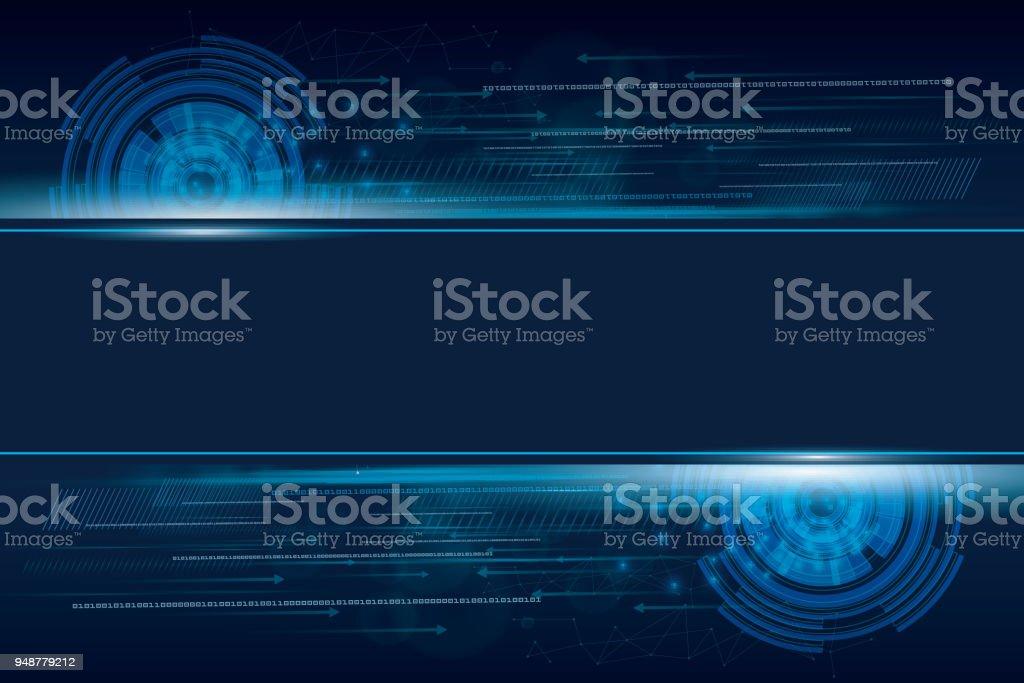Abstrakte Technik Hintergrund für das Internet der Dinge – Vektorgrafik