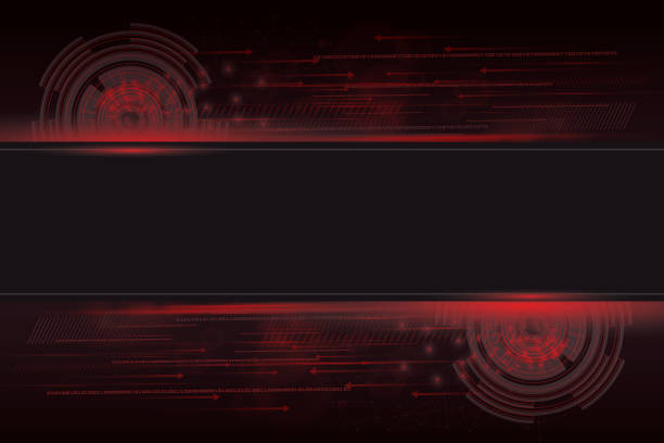 ilustrações de stock, clip art, desenhos animados e ícones de abstract technology background for internet of things - vr red background