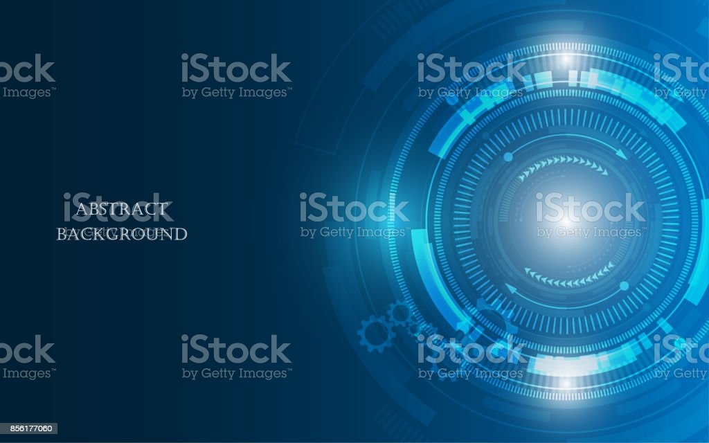 Abstract Technology Background Hi Tech Communication Concept Futuristic  Digital Innovation Background Vector Illustration Royalty
