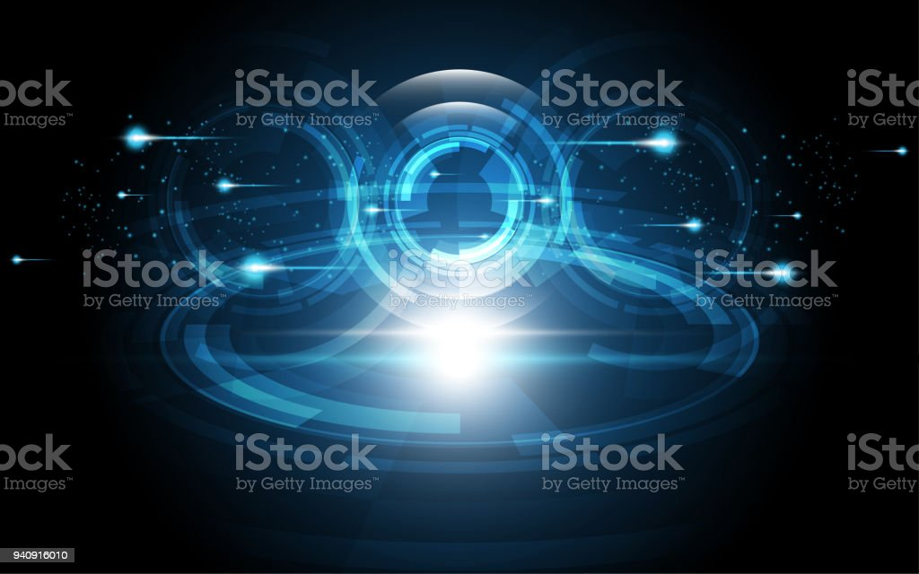 Abstract Technology Background Hi Tech Communication Concept Innovation Background  Vector Illustration Royalty Free Abstract