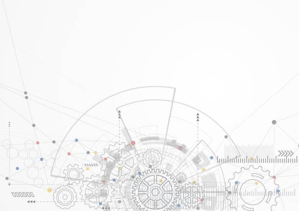 stockillustraties, clipart, cartoons en iconen met abstracte technische achtergrond - uitvinding