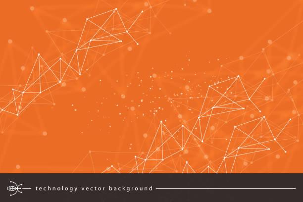bildbanksillustrationer, clip art samt tecknat material och ikoner med abstrakta teknik bakgrund - orange bakgrund