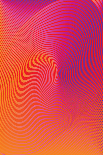 abstract technology background with concentric halftone pattern - превращаться stock illustrations