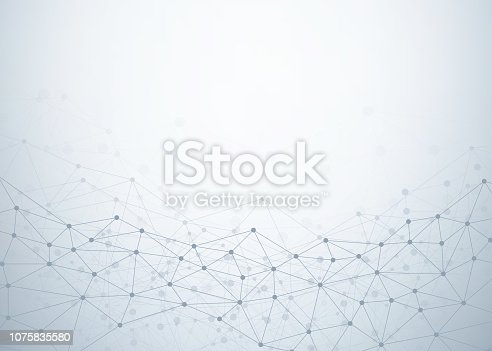 Abstract technology background with dots and lines connection. Data and technology concept. Internet network