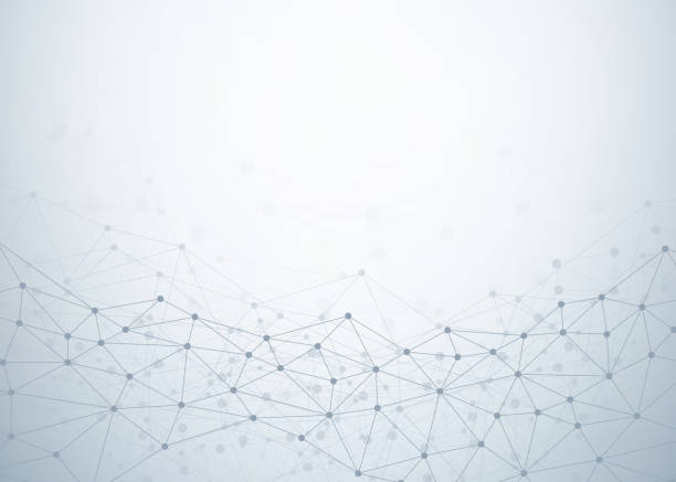 abstrakcyjne tło technologii z kropkami i połączeniami linii. koncepcja danych i technologii. sieć internetowa - sieć komputerowa stock illustrations