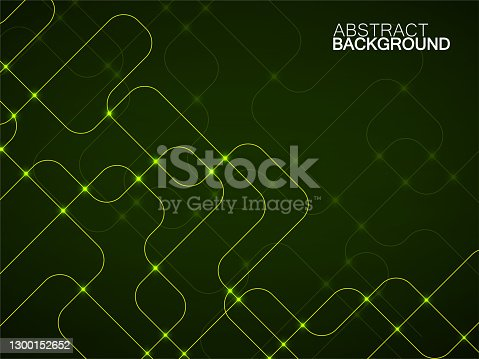 istock Abstract technology background with glowing communication lines. Futuristic design 1300152652