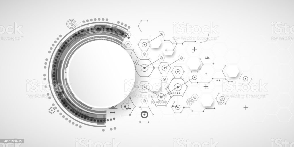 Abstract technology background with various technological elements royalty-free abstract technology background with various technological elements stock vector art & more images of 2015