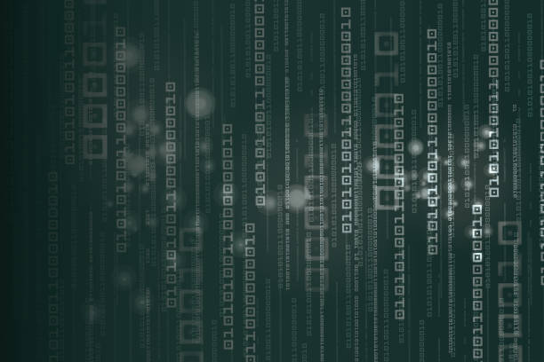 Abstract Technology Binary code Background Digital Display, Data, Binary Code, Internet, Number hacker stock illustrations
