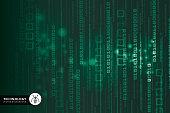 Digital Display, Data, Binary Code, Internet, Number