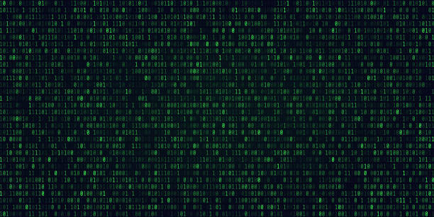 abstract technology binary code background.digital binary data and secure data concept - algorithm stock illustrations