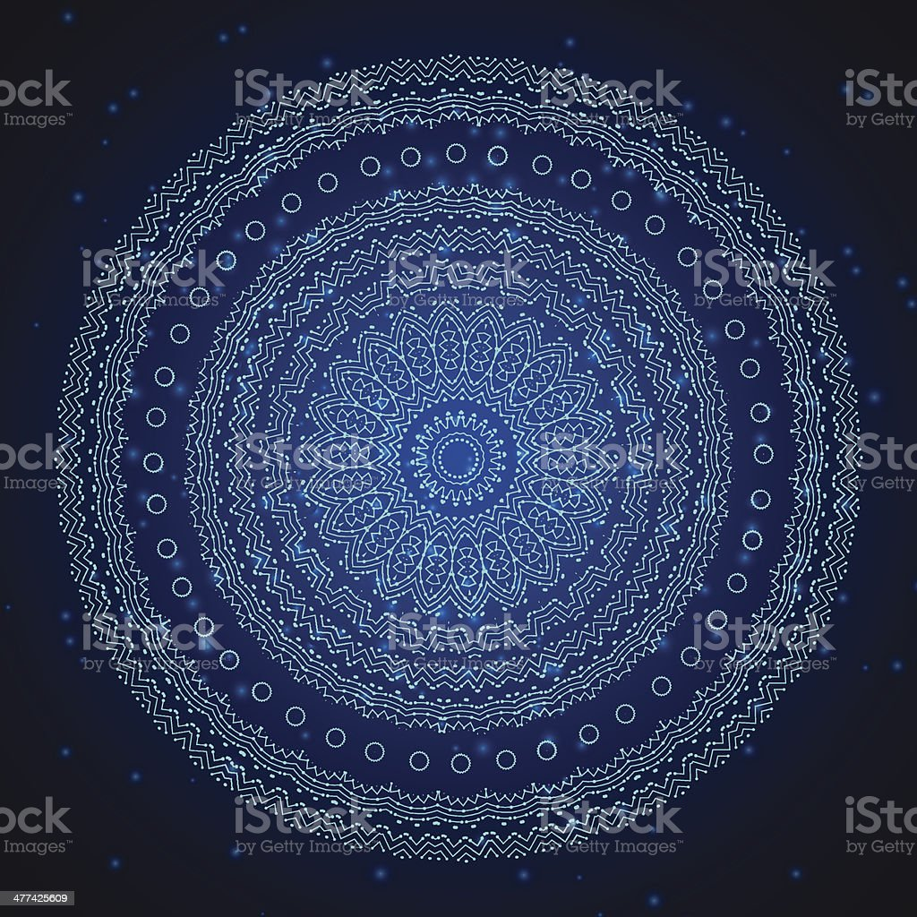 Abstract technology blue background. vector art illustration