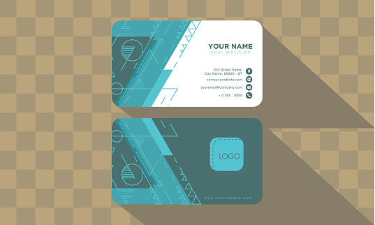 abstract technology business card vector