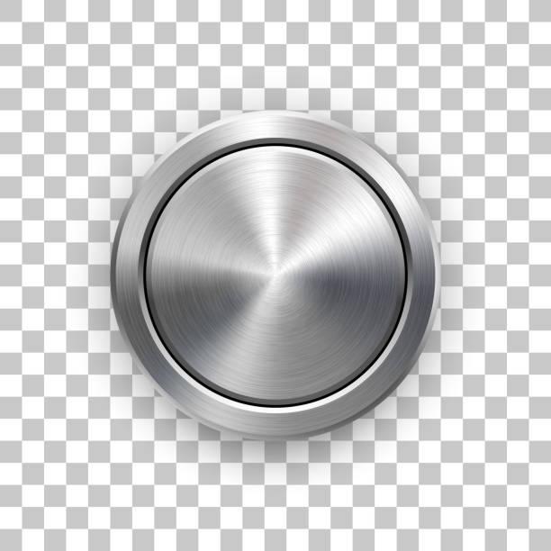 abstrakcyjna technologia circle metal badge - metal stock illustrations