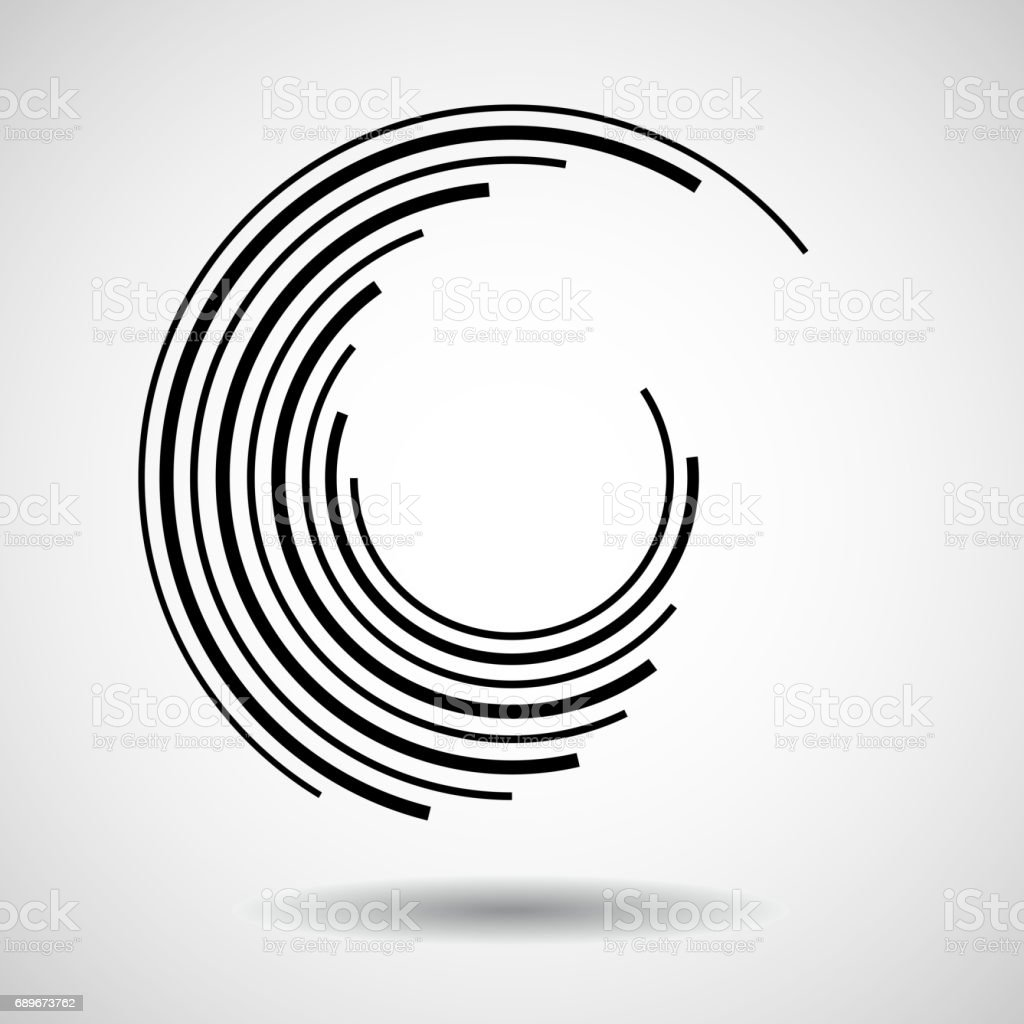 Abstract technology circles vector art illustration