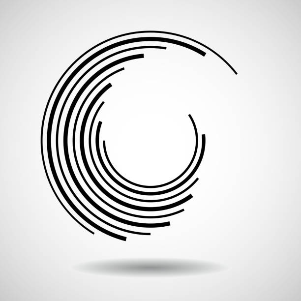 abstract technology circles - repetition stock illustrations