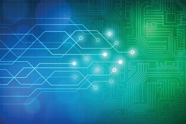 Abstrait de technologie circuit fond vector de - Illustration vectorielle
