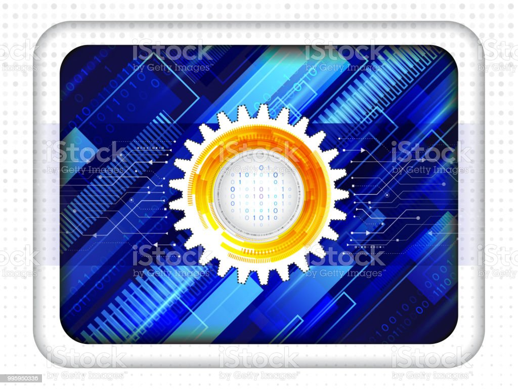Abstract Technology Circuit Board Stock Vector Art More Images Of Royaltyfree Binary Code Royalty Free Amp