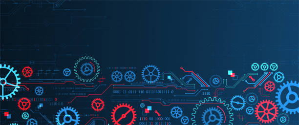 Abstract technology concept. Background with various cogwheels. Vector illustration. vector art illustration