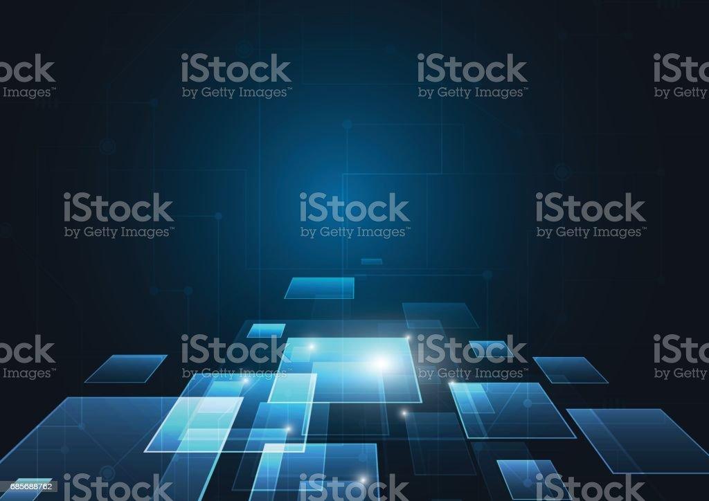 抽象的技術概念。向量圖背景 免版稅 抽象的技術概念向量圖背景 向量插圖及更多 創新 圖片