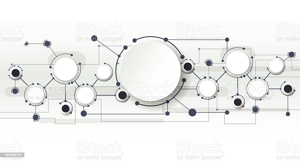Abstract Technology connection background vector art illustration