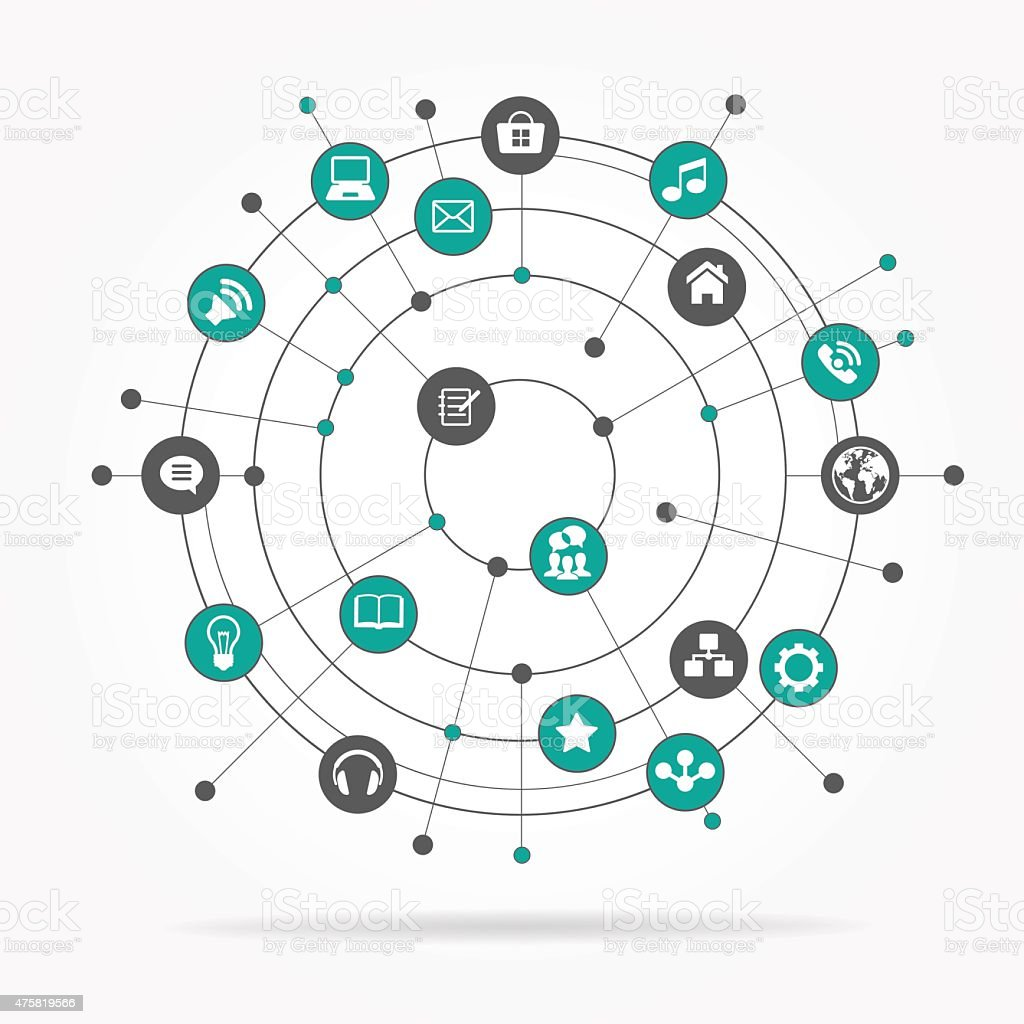 connection technology vector abstract connect network computer vectors topics concepts circle illustration