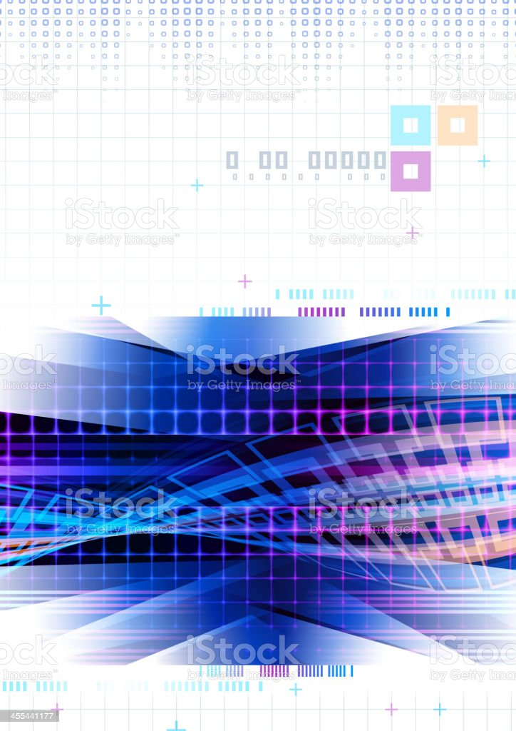 Abstract Technology Cover royalty-free stock vector art