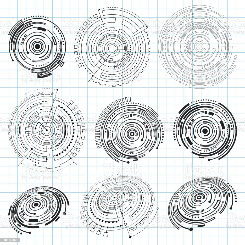 Abstract Technology Design Elements royalty-free stock vector art