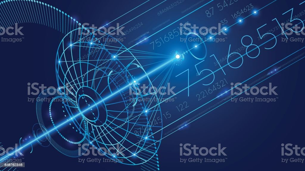 Abstract Technology Digital Communication Background Stock ...