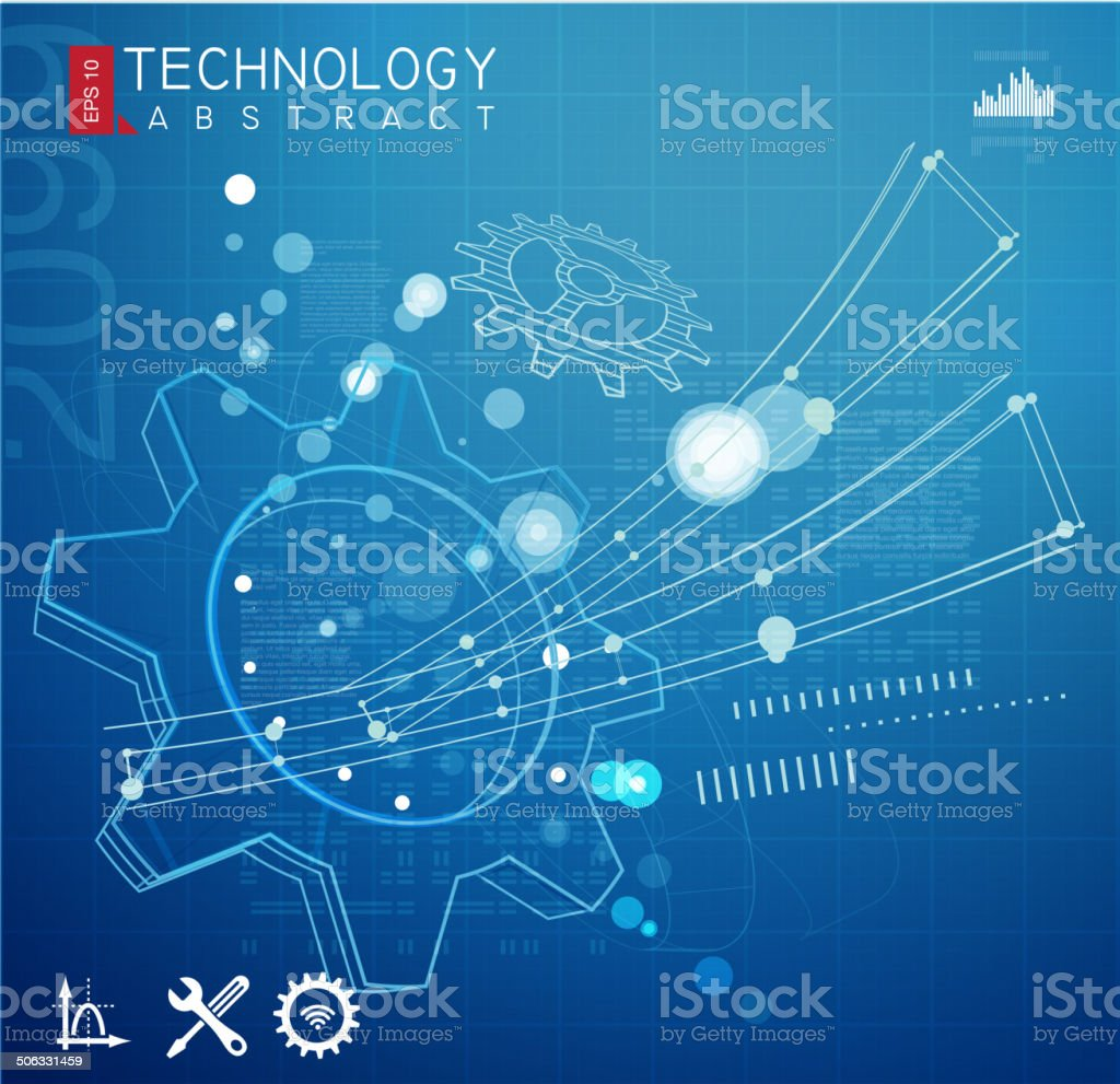 Abstract Technology Drawing vector art illustration