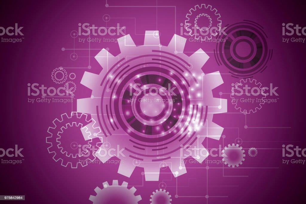 Abstrakte Technologie Augapfel, Leiterplatte, Geschwindigkeit Bewegungsunschärfe - Lizenzfrei Abstrakt Vektorgrafik