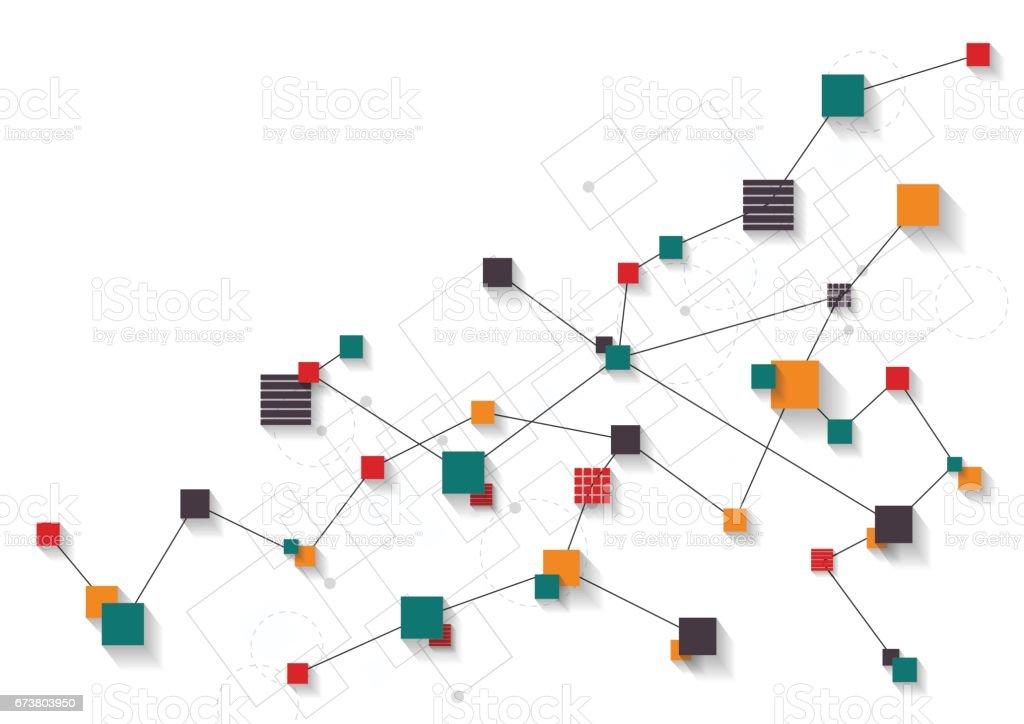 Réseau abstrait de technologie futuriste réseau abstrait de technologie futuriste – cliparts vectoriels et plus d'images de abstrait libre de droits