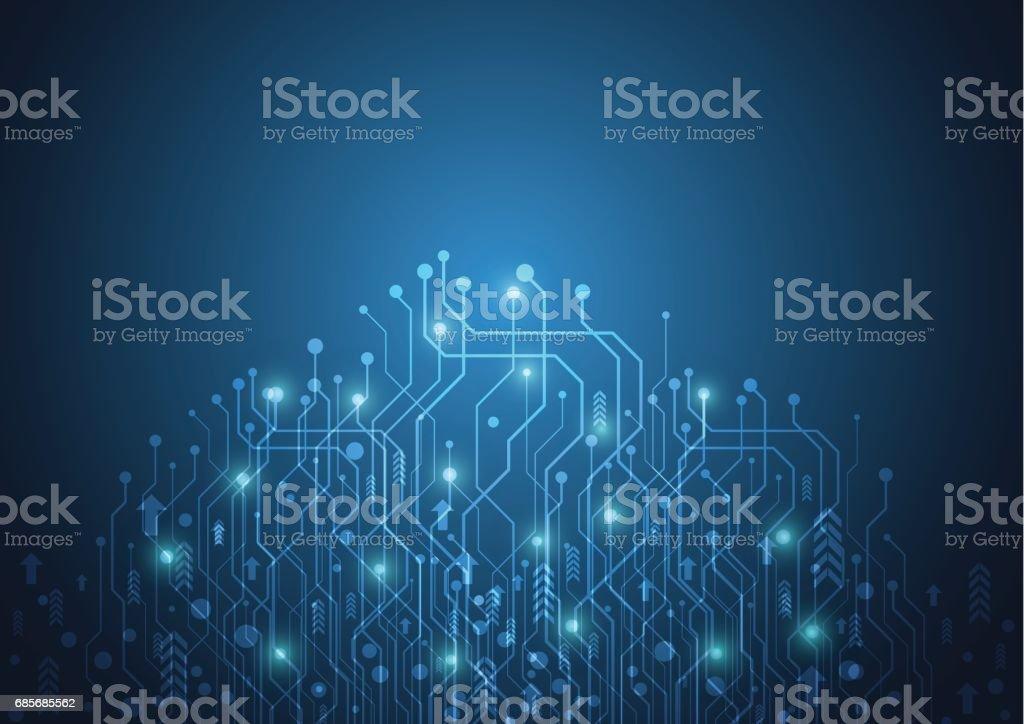 Abstrakte Technologie futuristische Netzwerk Lizenzfreies abstrakte technologie futuristische netzwerk stock vektor art und mehr bilder von abstrakt