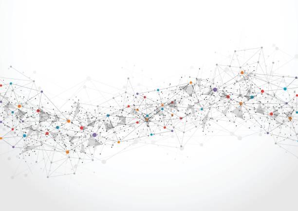 抽象的な技術未来的なネットワーク - 物理学点のイラスト素材/クリップアート素材/マンガ素材/アイコン素材