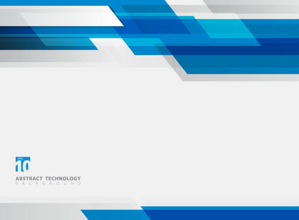abstract technology geometric blue color shiny motion background. - abstract borders stock illustrations