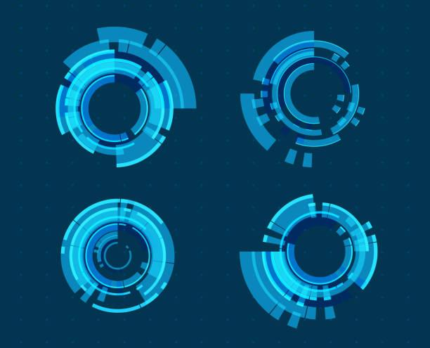 Abstract technology illustration vector art illustration