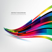 Abstract technology lines vector background Colored rectangles in the shape of an abstract wave