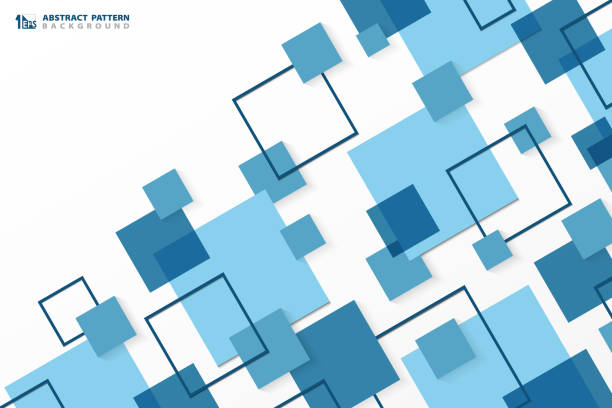 Abstract technology modern blue square geometric pattern background. You can use for ad, poster, corporate presentation, annual report, cover design. Abstract technology modern blue square geometric pattern background. You can use for ad, poster, corporate presentation, annual report, cover design. illustration vector eps10 square shape stock illustrations